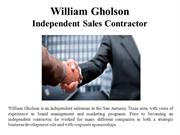 William Gholson-Independent sales contractor