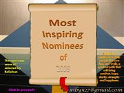Most inspiring nominees of 2009