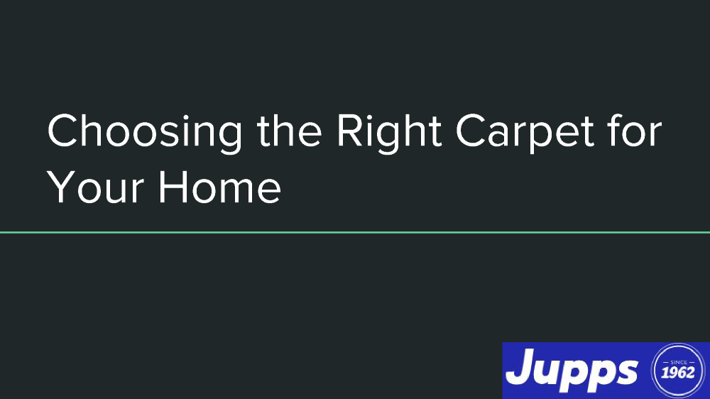 choosing the right carpet for your home authorstream