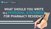 Tips Personal Statement for Pharmacy Residency