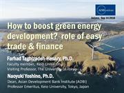 How to boost green energy development, role of easy trade & finance