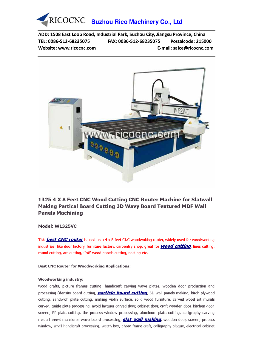 1325 4 X 8 Feet Cnc Wood Cutting Router Machine For Slatwall M Cable Diagram Http Wwwpoweredtemplatecom Powerpointdiagrams Related Presentations