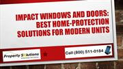 Impact Windows and Doors Best Home Protection Solutions for Modern Uni