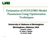 Estimation of f-COCOMO Model Parameters