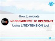 How to move NopCommerce to OpenCart with LitExtension