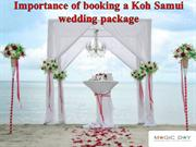 Importance of booking a Koh Samui wedding package from online agency