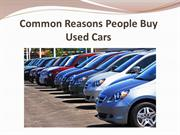 Common Reasons People Buy Used Cars