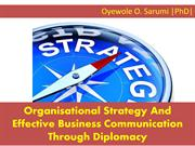 Organisational Strategy And Effective Business Communication Through D