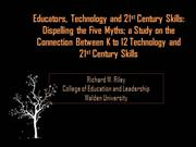 Educators, Technology and 21st Century Skills