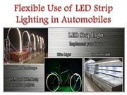 Flexible Use of LED Strip Lighting in Automobiles