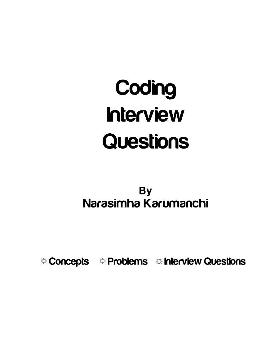 coding interview questions pdf download