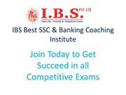 IBS Bank PO & SSC Coaching Institute Chandigarh & Delhi