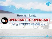 How to move OpenCart to OpenCart with LitExtension