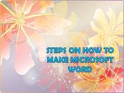 Steps on how to make microsoft word