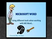steps in using microsoft word
