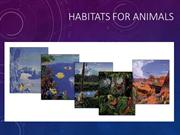 HABITATS FOR ANIMALS