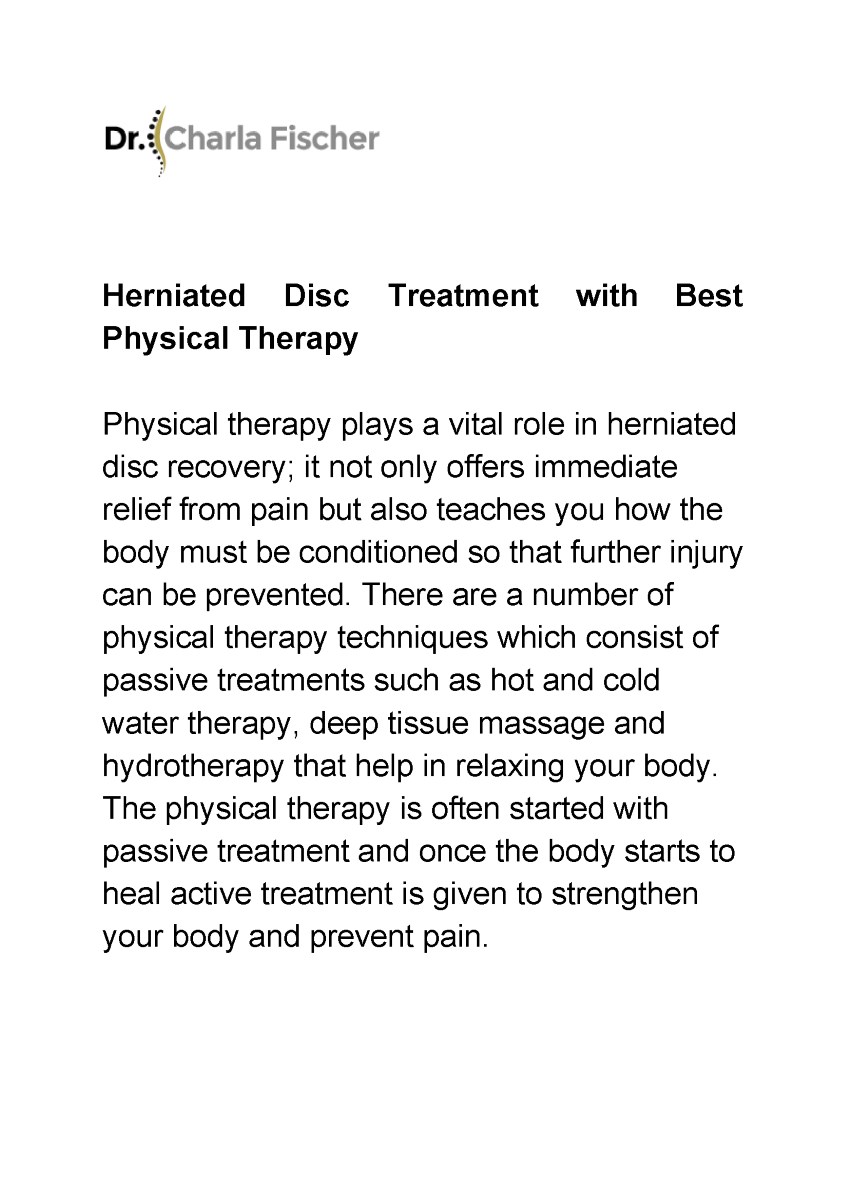 Herniated disc physical therapy - Related Presentations