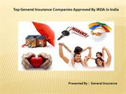 Top General Insurance Companies Approved By IRDA in India