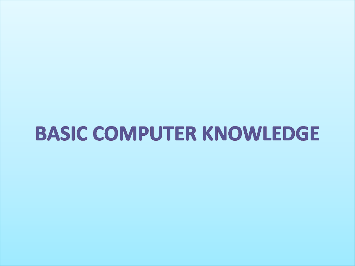 computer basic knowledge Read the article on basic computer knowledge given below make points on  computer general knowledge while reading which will help for a.