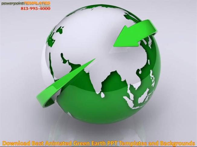 download best animated green earth ppt templates and backgrounds