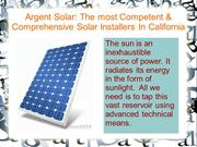 Argent Solar The most Competent & Comprehensive Solar Installers In Ca