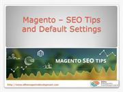 Magento – SEO Tips and default settings