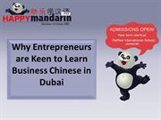 Why Entrepreneurs are Keen to Learn Business Chinese in Dubai