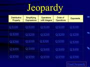 Unit 1 Review Jeopardy Game