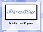 Quality Used Engines - Offering the best at bestprice