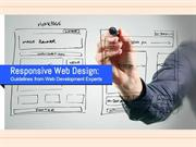 Responsive Web Design: Guidelines from Web Development Experts