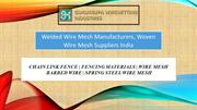 Welded Wire Mesh Manufacturers, Woven Wire Mesh Suppliers India