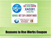 Reasons to Use iHerbs Coupon