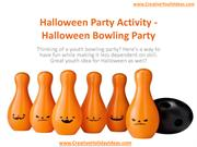 Halloween Party Activity - Halloween Bowling Party