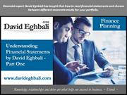 David Eghbali Financial Statements Analysis