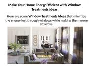 Your Home Energy Efficient with Window Treatments ideas