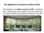 Window Curtains in India