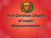 First Christian Church Announcements