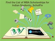 List of MBA Scholarships for Indian students 2016-ScholFin