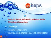 Issue Of Acute Mountain Sickness While Climbing A Mountain