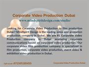 Corporate Video production Dubai - Video Production Company Dubai