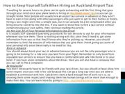 How to Keep Yourself Safe When Hiring an Auckland Airport Taxi
