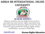 Human Rights Education