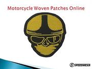 Motorcycle Woven Patches Online