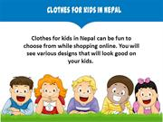 Clothes for kids in Nepal