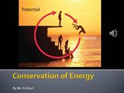Lesson 1- Energy and it's conservation
