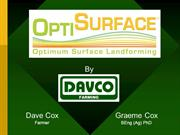 OptiSurface #1 Patented 3D Agricultural Earthwork Design Solution
