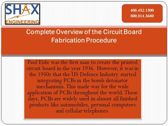 Complete Overview of the Circuit Board Fabrication Procedure