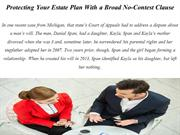Protecting Your Estate Plan With a Broad No-Contest Clause