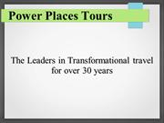 Power Places Tours - The Grandfather of Spiritual Tours