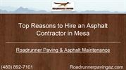 Top Reasons to Get an Asphalt Contractor in Mesa